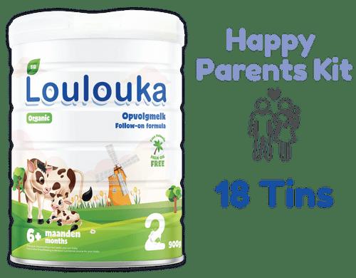 18 Tins of Loulouka Stage 2 Organic (Bio) Infant Milk Formula (900g) - LouLou Happy Parents Kit