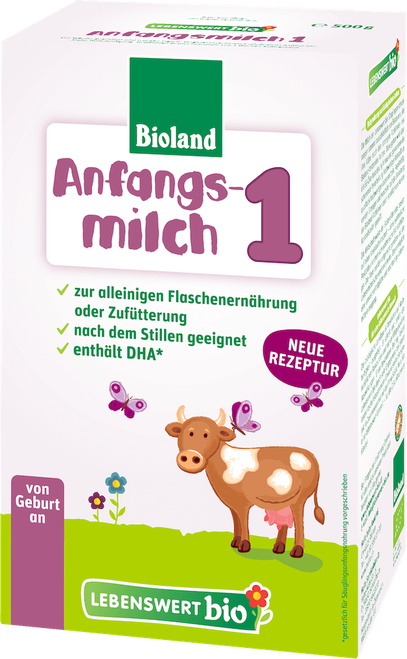 Lebenswert Stage 1 Organic (Bio) Infant Milk Formula (500g)