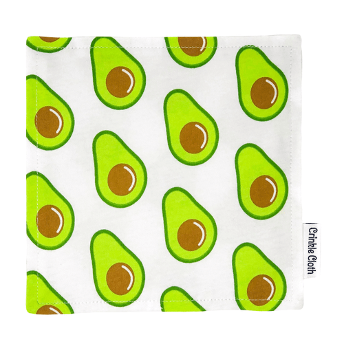 Crinkle cloth with avocado pattern