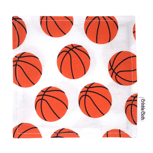 Crinkle cloth with basketball pattern