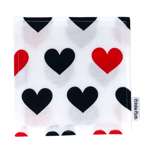 Crinkle cloth with heart pattern
