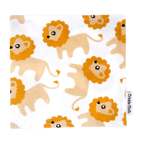 Crinkle cloth with lion pattern