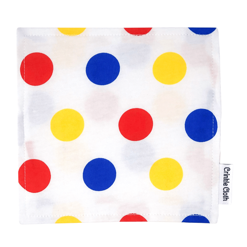 Crinkle cloth with polka dot pattern