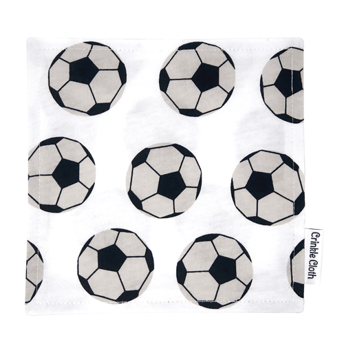 Crinkle cloth with soccer ball pattern