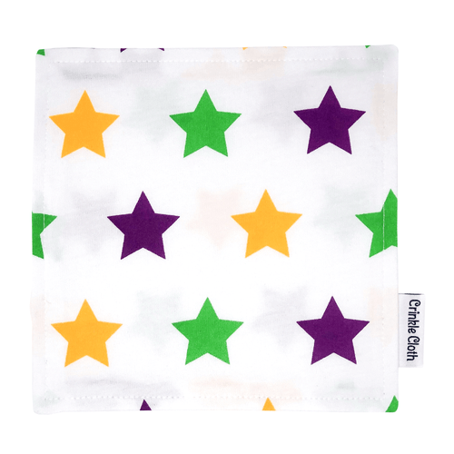 Crinkle cloth with star pattern