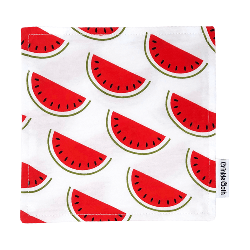 Crinkle cloth with watermelon pattern