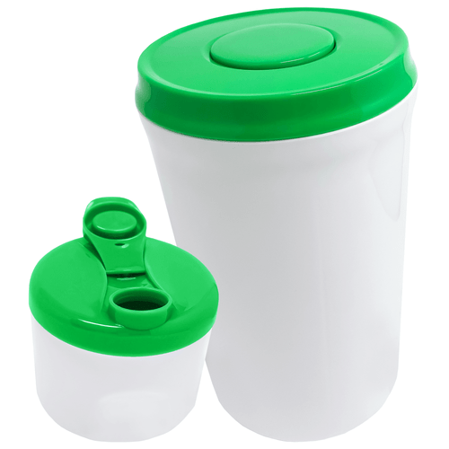 Green Storage container with Green Travel container