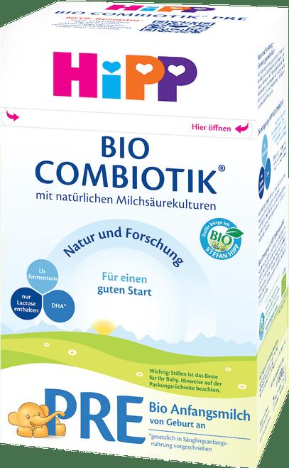 HiPP Stage PRE Organic (Bio) Combiotic Infant Milk Formula (600g) - German Version