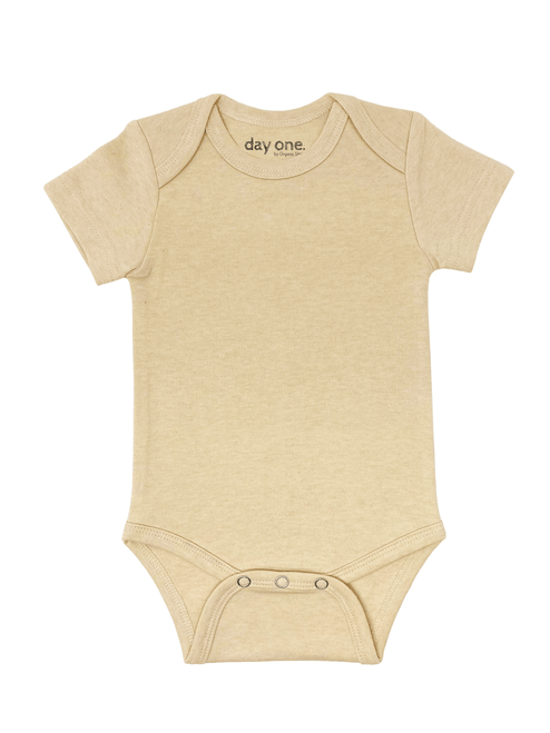 Creamy Beige Short-sleeved bodysuit (light brown beige color)
