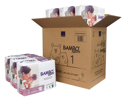Box of Bambo Diapers 1