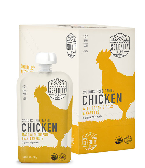 6 Pack of Organic Chicken with peas and carrots puree
