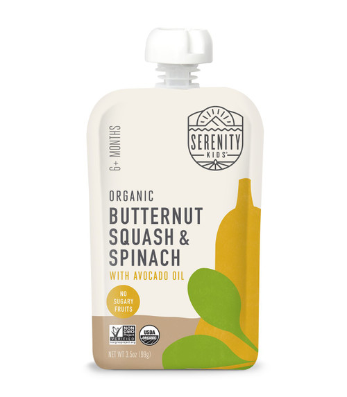 Organic Butternut Squash and Spinach puree