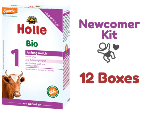 12 Boxes of Holle Stage 1 Organic (Bio) Infant Milk Formula (400g) - Newcomer Kit