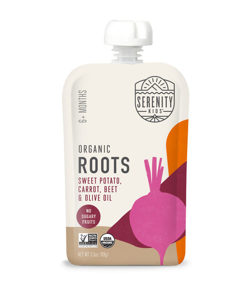 Organic Roots. Sweet potato carrot and beef puree.