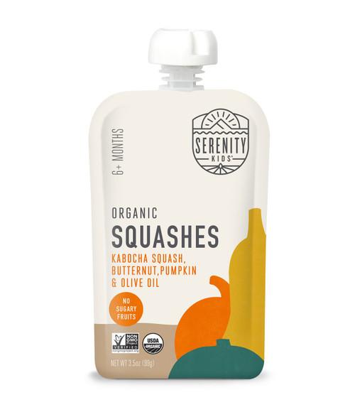 Organic Kabocha squash, butternut squash, and pumpkin
