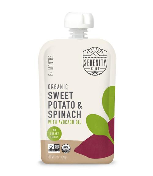 Organic Sweet Potato and Spinach puree
