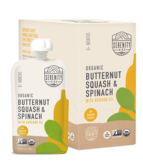 6 Pack Butternut Squash and Spinach Puree