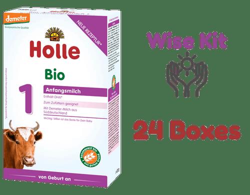 24 Boxes of Holle Stage 1 Organic (Bio) Infant Milk Formula (400g) - Wise Kit