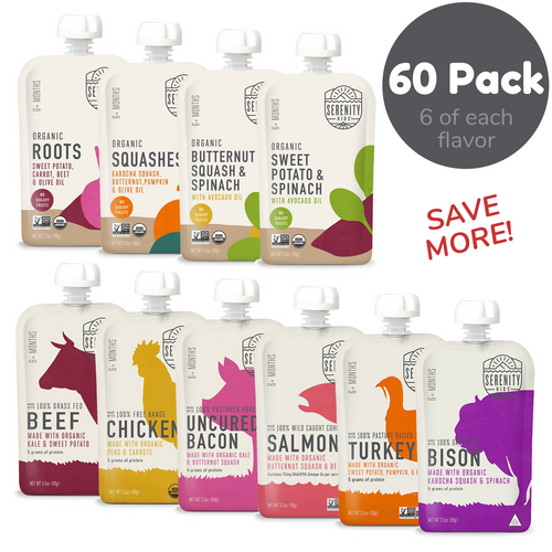 60 Pack, 6 of each flavor. Save more!
