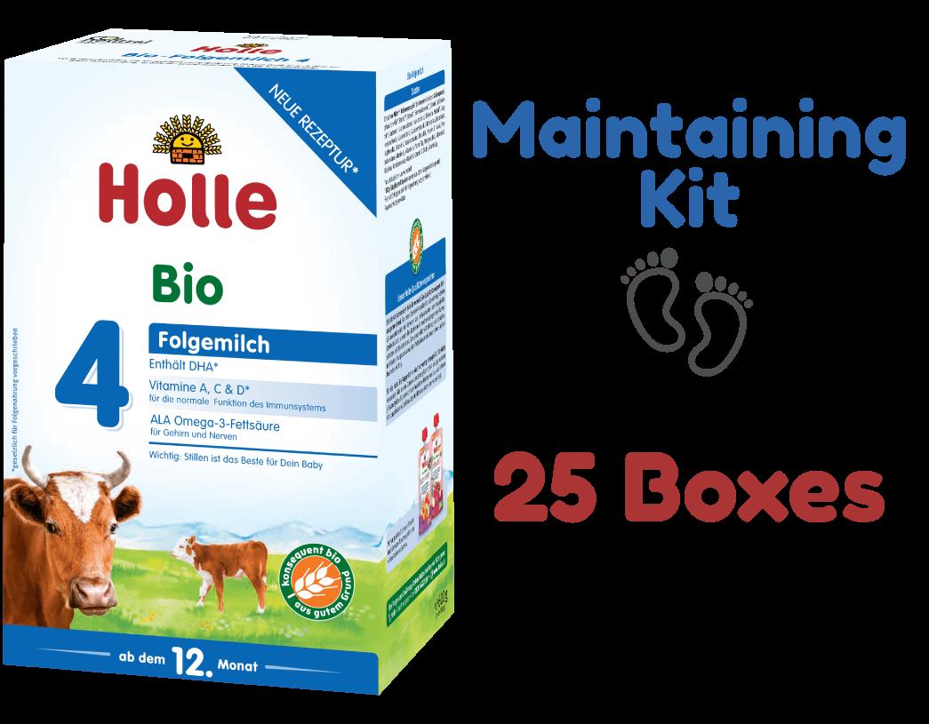 25 Boxes of Holle Stage 4 Organic Growing-up Toddler Milk Formula (600g) - Maintaining Kit