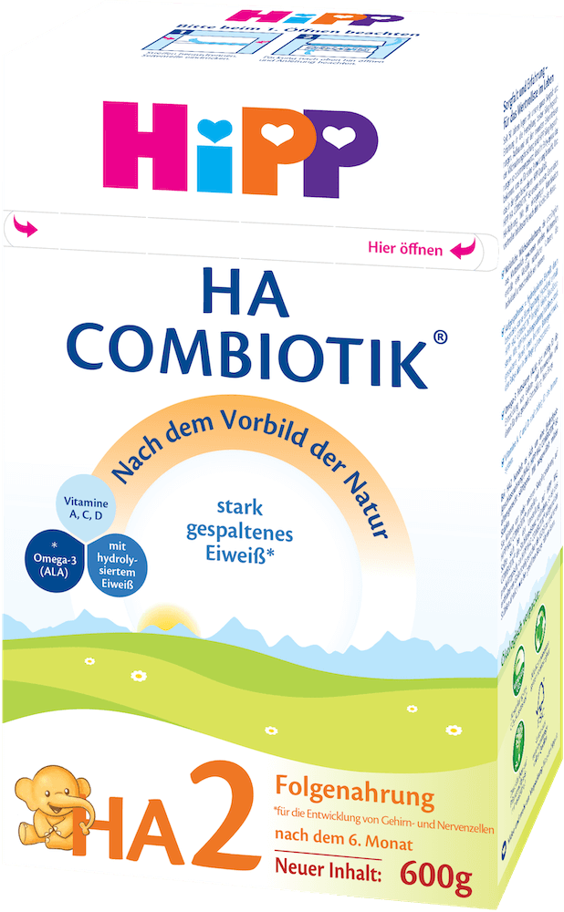 HiPP Hypoallergenic (HA) Stage 2 Combiotic Follow-on Infant Milk Formula (600g) - German Version