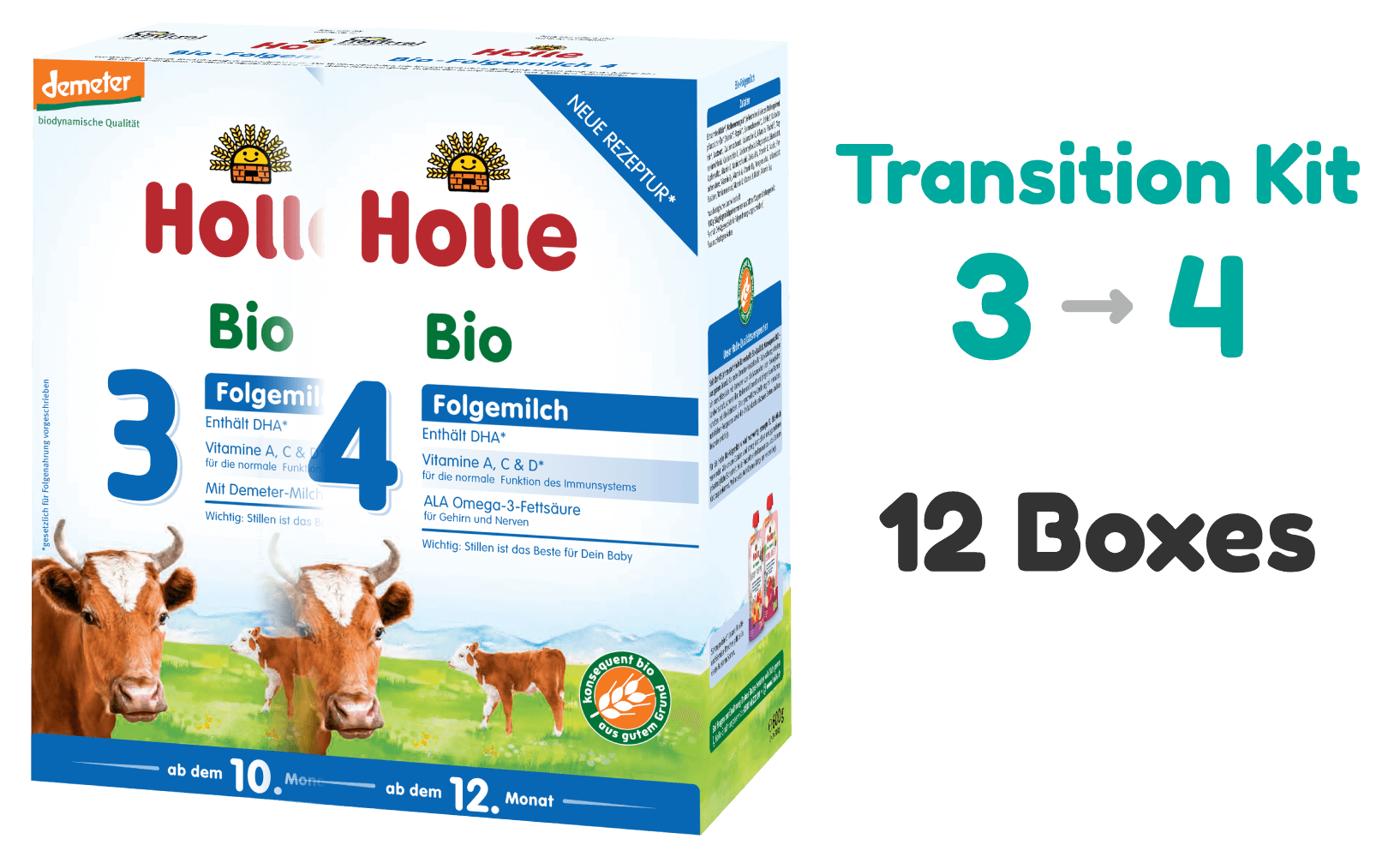 Transition Kit: Holle Cow stage 3 and stage 4