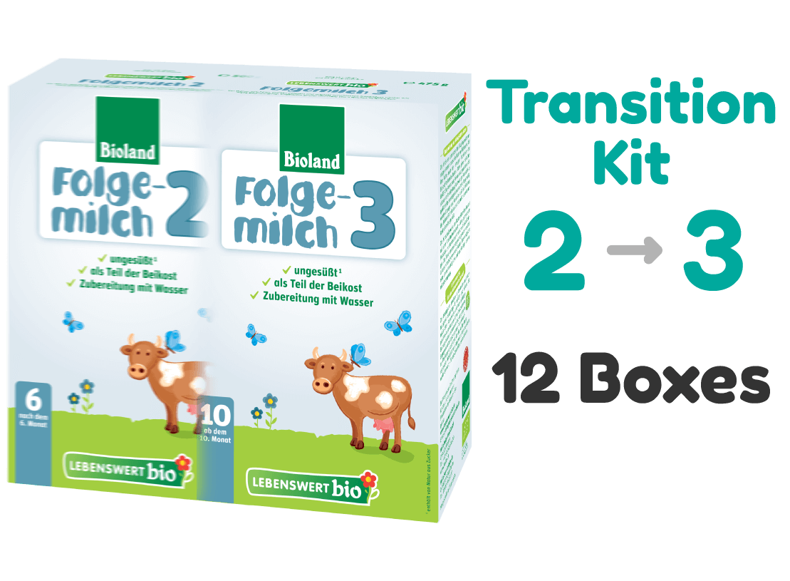 6 Boxes of Lebenswert Stage 2 and 6 Boxes of Lebenswert Stage 3  - Transition Kit