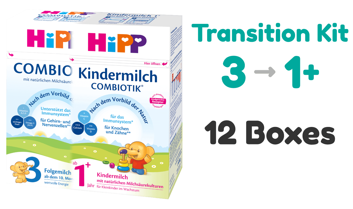 HiPP German stage 2 and stage 1+ toddler