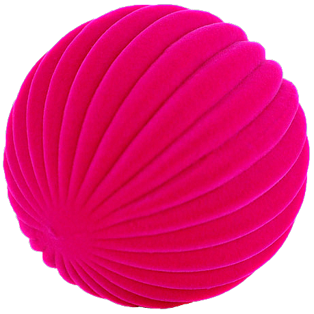 Pink Ball with linear indents