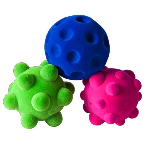 Green, Blue and Pink bumpy balls
