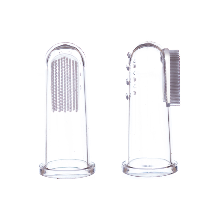 Two Infant Finger Mouth Brushes, Clear color
