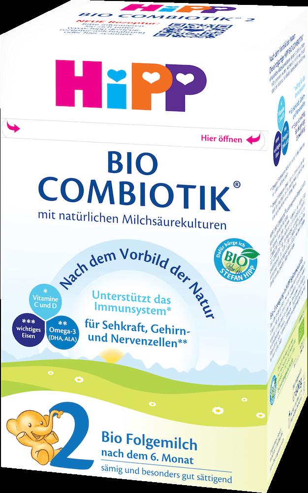 HiPP Stage 2 Organic (Bio) Combiotic Follow-on Infant Milk Formula (600g) - German Version