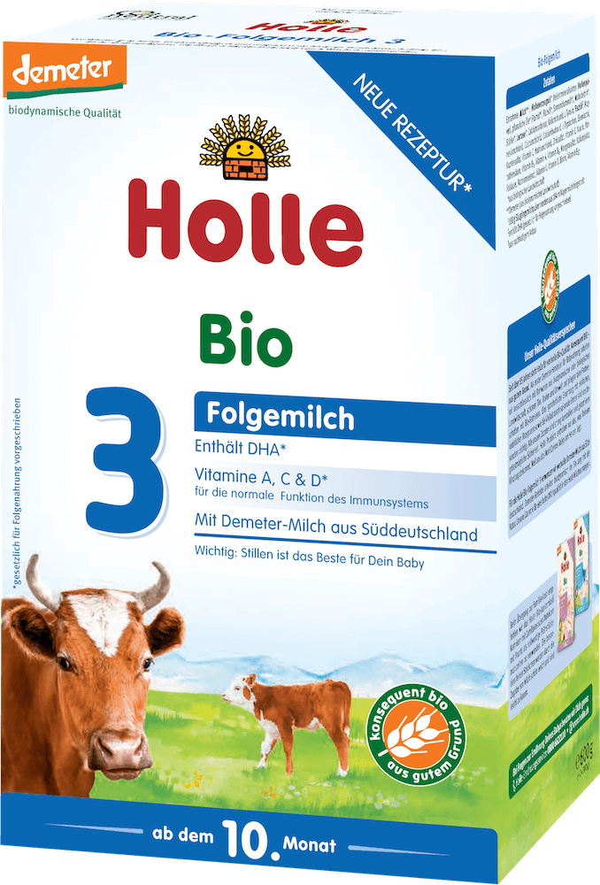 Holle Stage 3 Organic (Bio) Baby Milk Formula (600g)