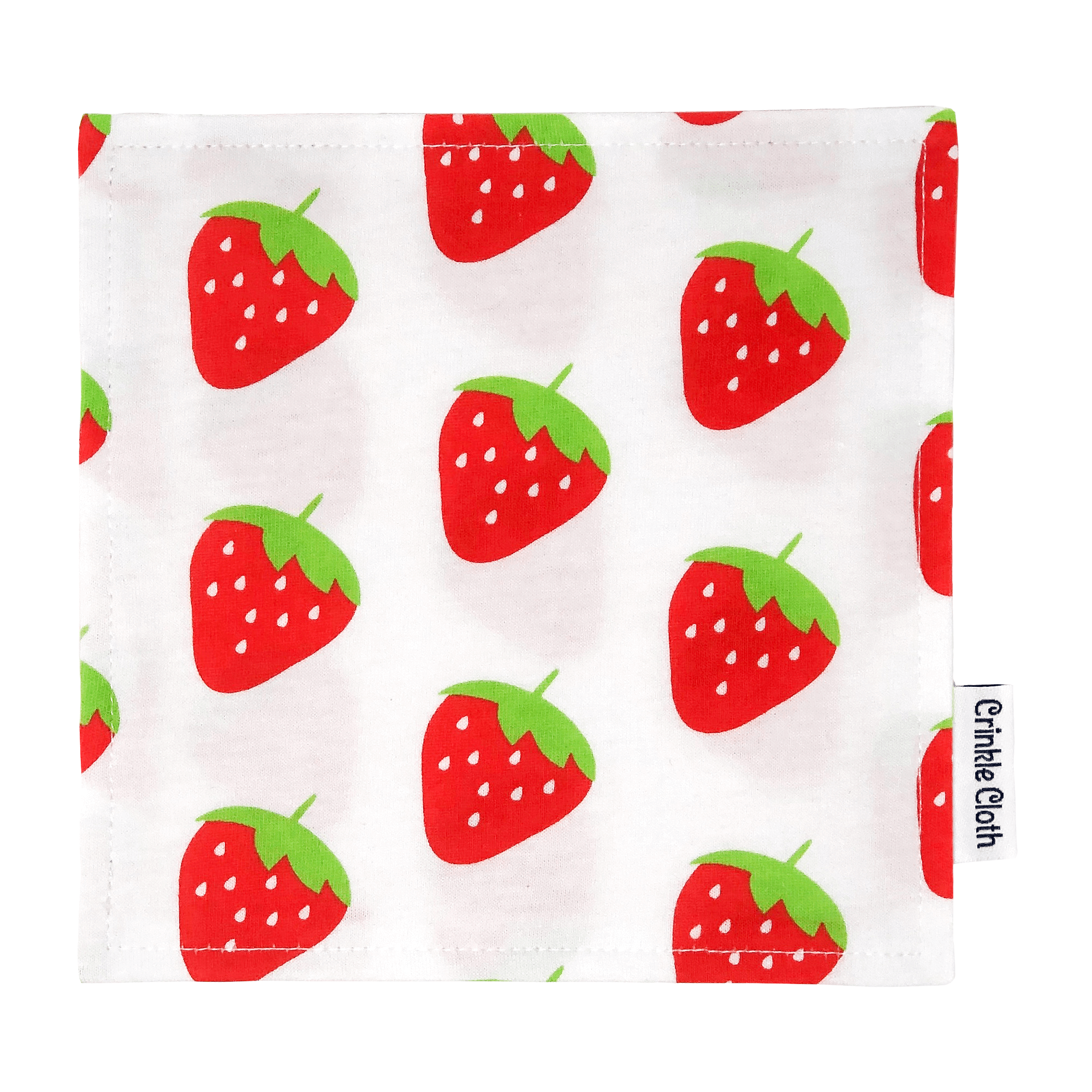 Crinkle cloth with strawberry pattern