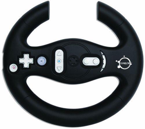 GameOn Nintendo Wii MotionPlus Fully Compatible Racing Wheel (Black)