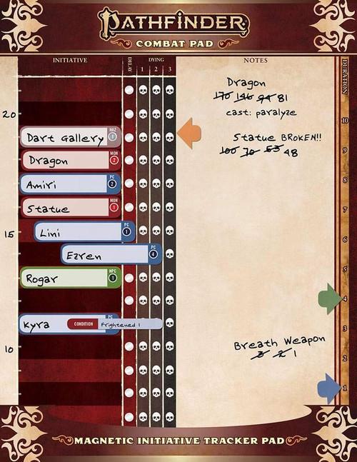 Combat Pad - Pathfinder RPG Second Edition P2 Book