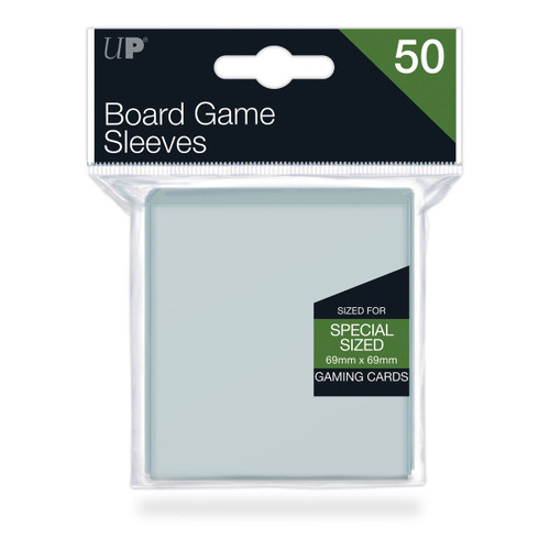 Board Game Sleeves 69x69mm (50 Ct. In Box) - Clear