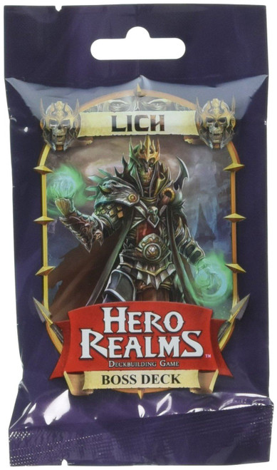 Hero Realms Lich Boss Deck Expansion Pack For Card Game