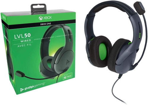 PDP LVL50 Wired Stereo Gaming Headset Xbox One - Black