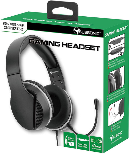 Subsonic Gaming Headset with Microphone for Xbox X Series - Black