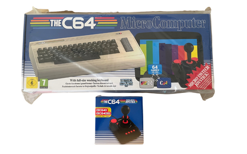 C64 Maxi Console with 64 Preloaded Classic Games and 2 Micro Switch Joysticks