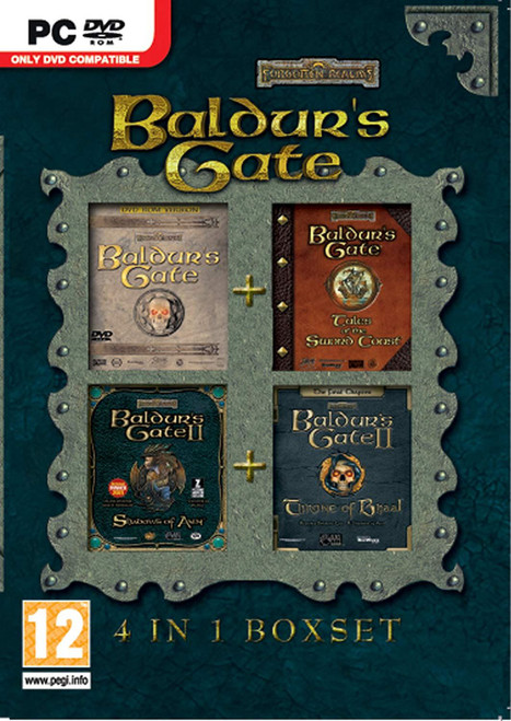 Baldur's Gate 4 in 1 Box Set PC DVD Game