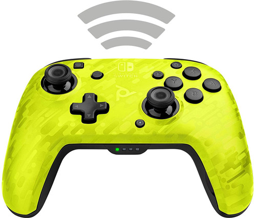 PDP Controller Faceoff Deluxe+ Audio Wireless For Nintendo Switch - Camo Yellow