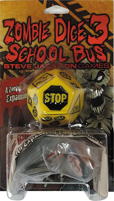 Zombie Dice 3 School Bus Board Game