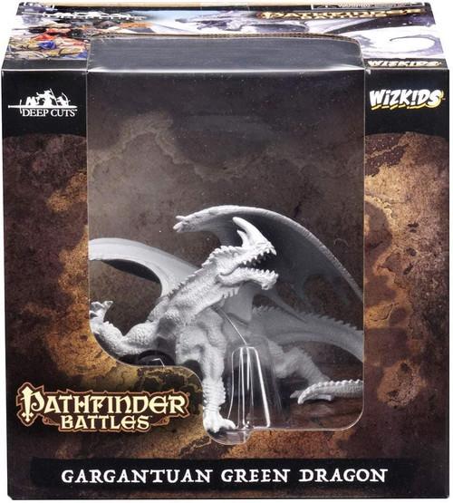 Gargantuan Green Dragon: Pathfinder Battles Deep Cuts Unpainted Miniatures (W7)