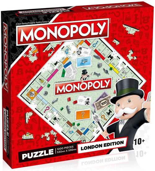 London Monopoly Jigsaw Puzzle Game (1000 Pieces)