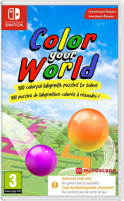 Color Your World Nintendo Switch Game (Code In Box)