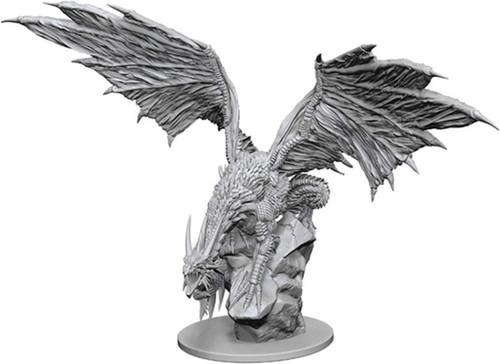 Pathfinder Battles Deep Cuts Unpainted Miniatures W12.5 Silver Dragon (6 Packs)