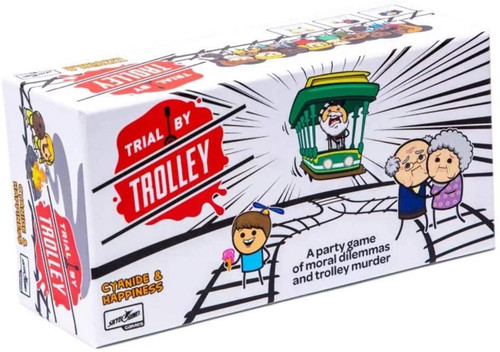 Lucky Duck Games Trial by Trolley An Adult Card Game