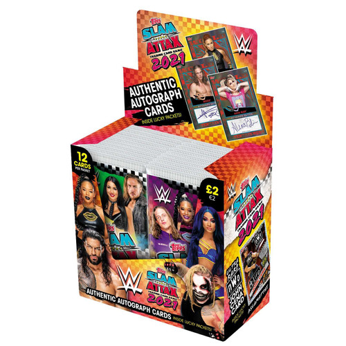 WWE Slam Attax 2021 Card Packets (Pack of 24)